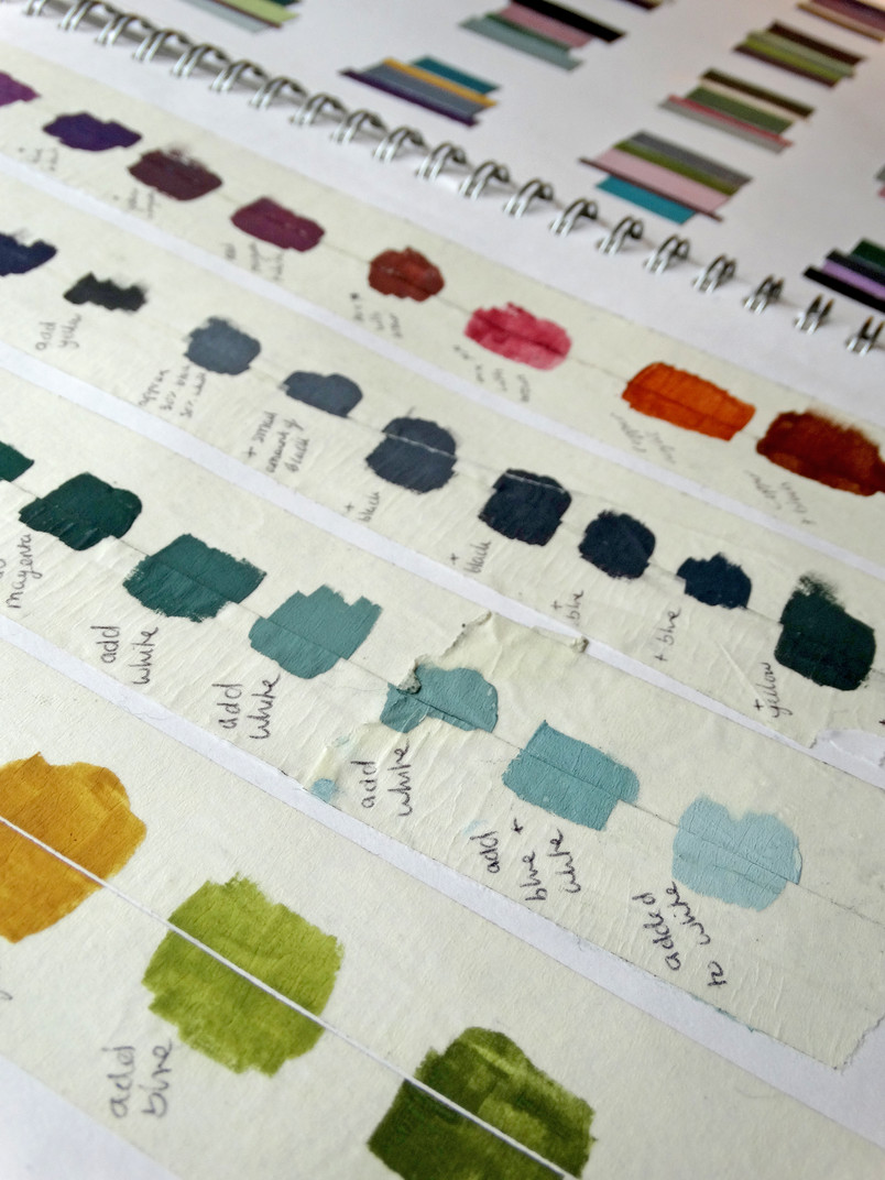 colour mixing gouache