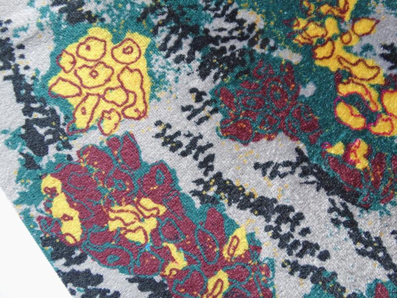 digitally printed floral fabric