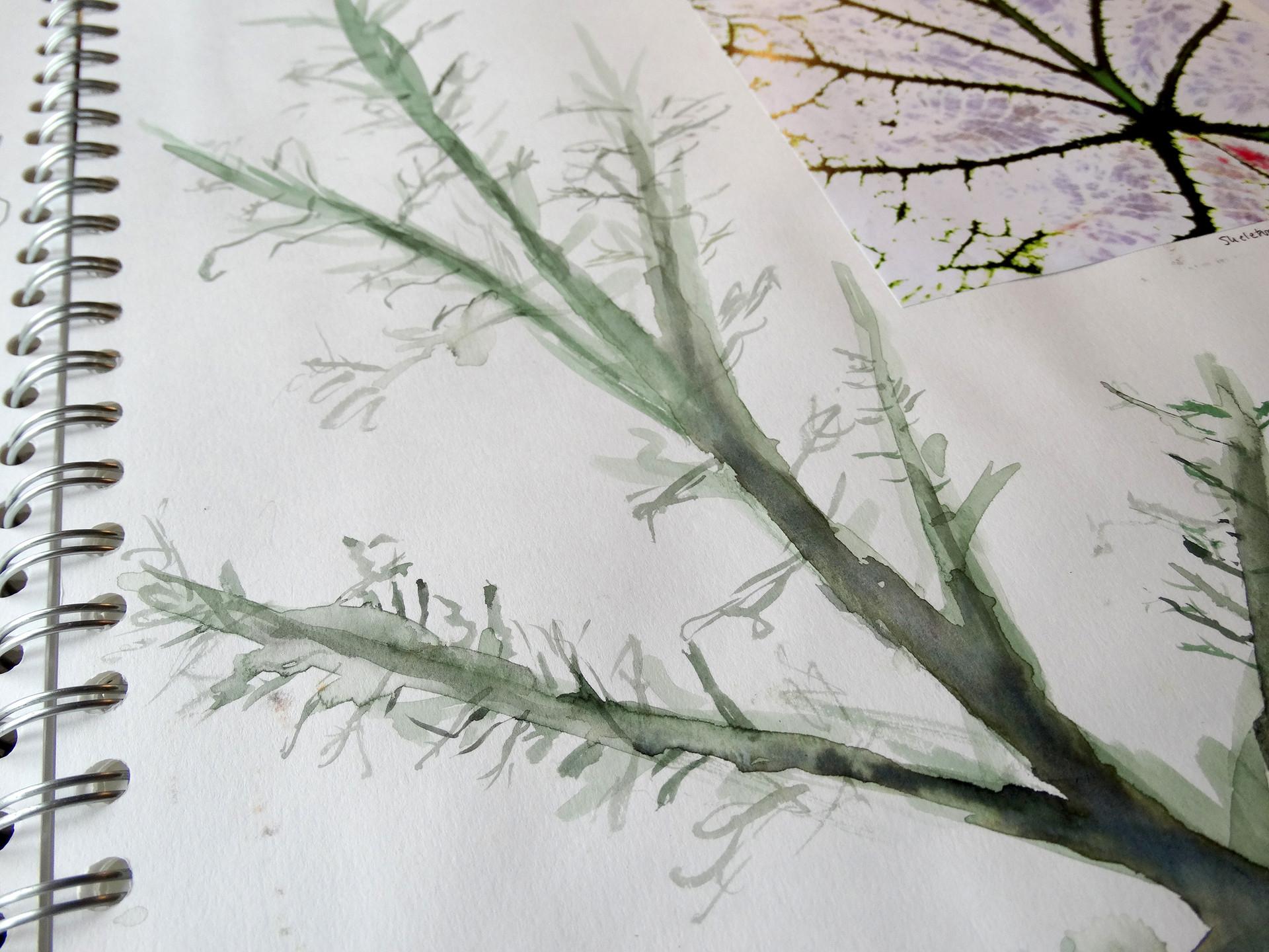 sketchbook painting