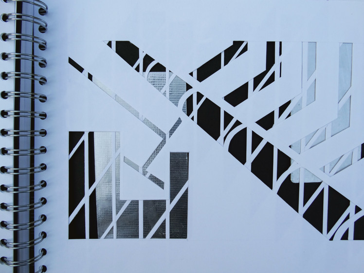 layered paper cut-outs
