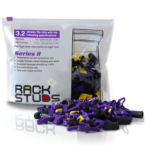 USA Rackstuds Series II 100-pack, Purple, 0.126""