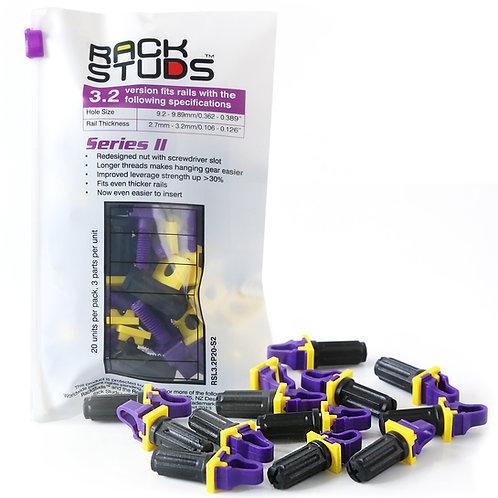 Rackstuds Series II 20-Pack, Purple, 3.2mm