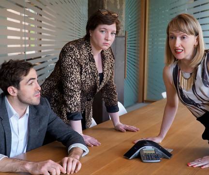 Jamie Cavanagh (Pete), Cass Van Wyck (Shelley), Breanna Dillon (Iris),