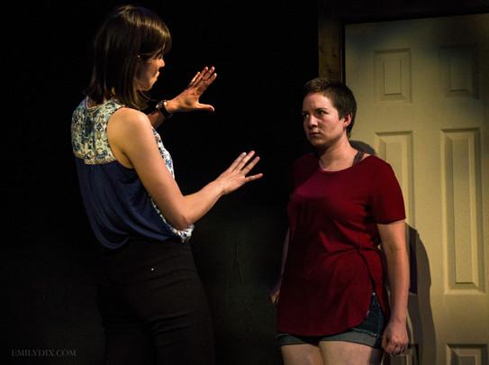 Courtney Ch'ng Lancaster (Liz), Cass Van Wyck (Joy)