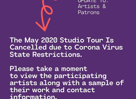 2020 Studio Tour Cancelled