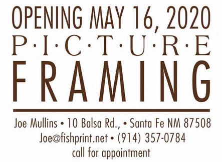 Frame Shop Opening in Eldorado in May 2020!