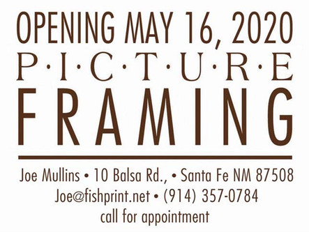Frame Shop Opening in Eldorado in May 2020!