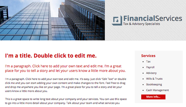 Consulting & Coaching website templates – Financial Services