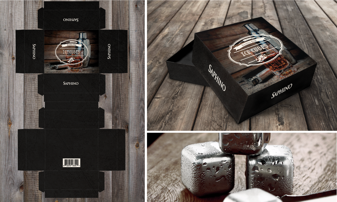 Stainless Steel Ice Cubes Packaging