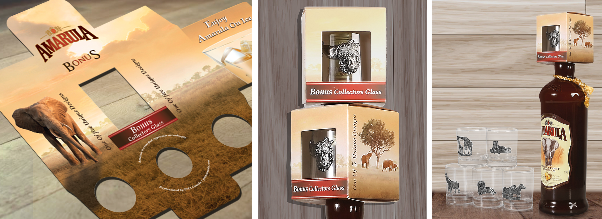 Amarula collectable glass packaging