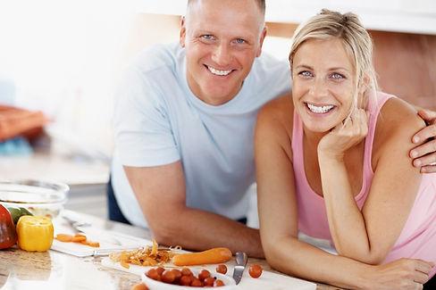 Healthy, happy couple