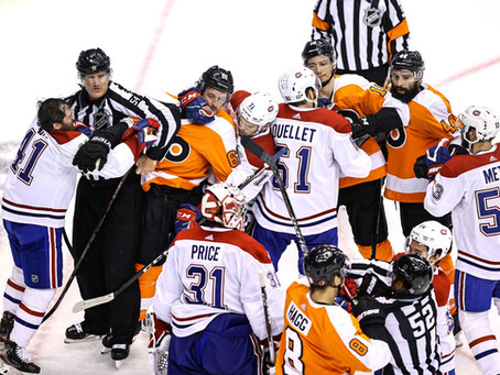 The Flyers Canadians series turns nasty