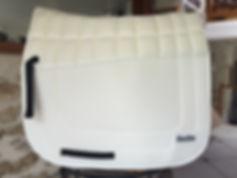 vente tapis de dressage blanc