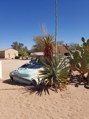 Autowrack in der Wüste