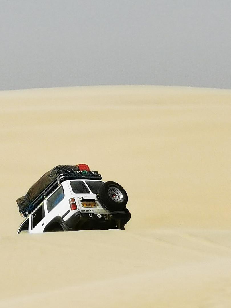 On Tour durch die Wüste