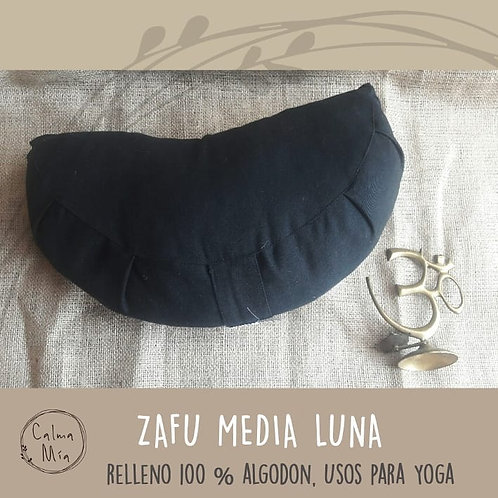 Zafu Medialuna o Medio Zafu De Yoga Para Meditación Negro