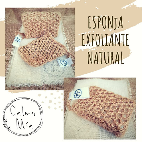 Esponja exfoliante natural