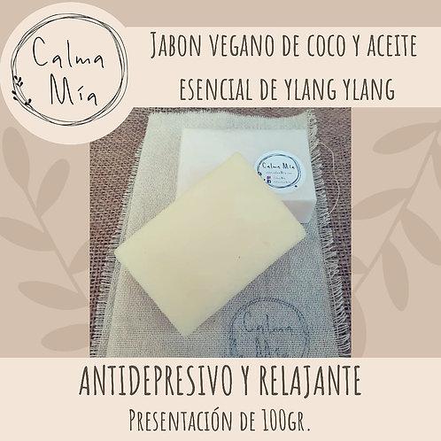 Jabon vegano con Ac. Esencial de Ylang Ylang