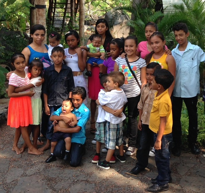 Employees children at a staff picnic on Isleta El Espino.