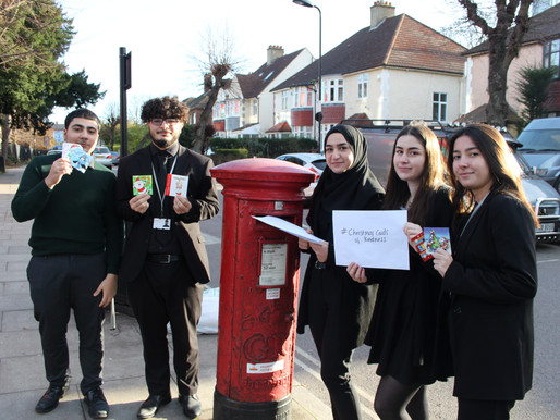 Sixth Form Students Send Christmas Cards of Kindness