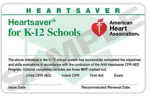 Heartsaver® for K-12 Schools