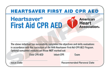 HeartSaver First Aid CPR/AED
