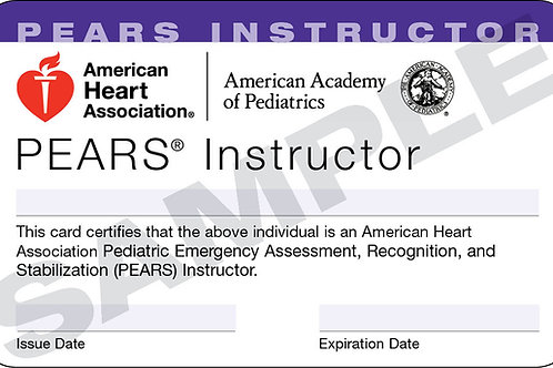 PEARS Instructor