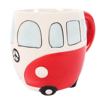 Red Campervan Mug