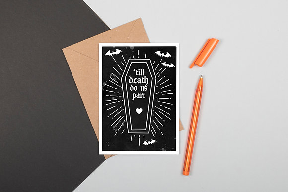 'Till Death Greeting Card