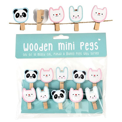 Miko and Friends Wooden Pegs