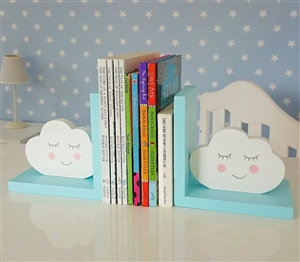 Blue Clouds Bookends