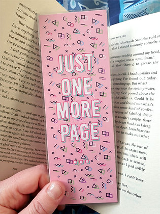 Just One More Page Bookmark