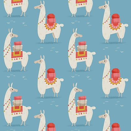 Dolly Llama Wrapping Paper