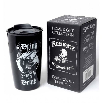Dying for a Drink Double Walled Ceramic Travel Mug