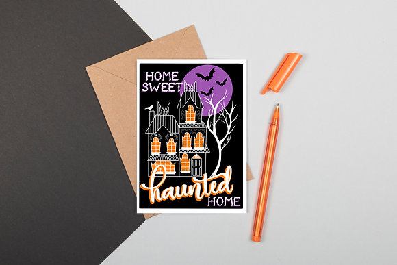 Home Sweet Haunted Home Greeting Card