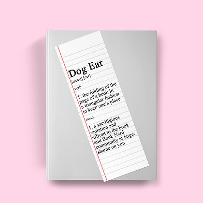 Dog Ear Definition Bookmark