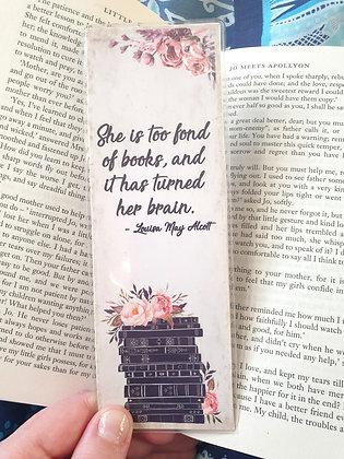 Too Fond of Books Bookmark