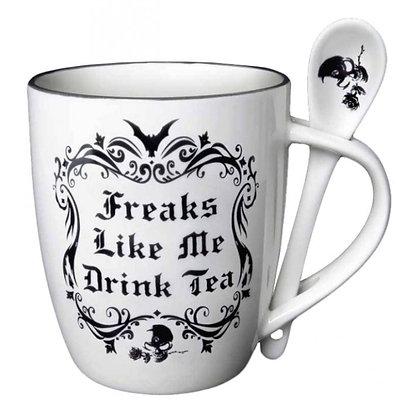 Freaks Like Me Mug & Spoon Set