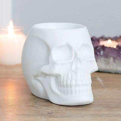 White Skull Oil Burner