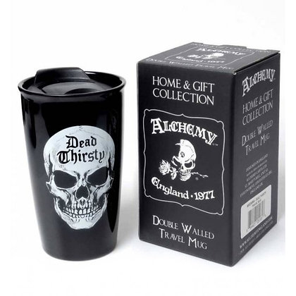 Dead Thirsty Double Walled Ceramic Travel Mug