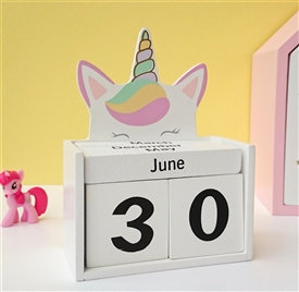 Unicorn Block Calendar
