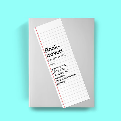 Book-trovert Definition Bookmark