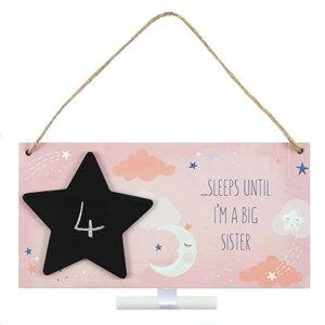 Big Sister Countdown Plaque