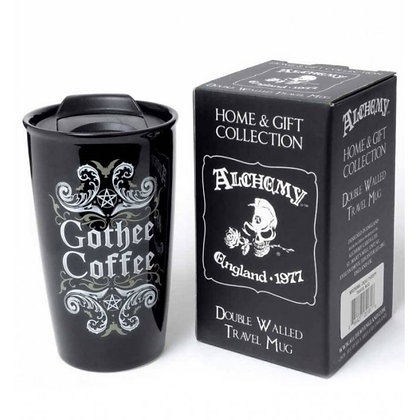 Gothee Coffee Double Walled Ceramic Travel Mug