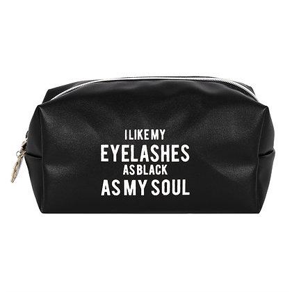 Black as my Soul Makeup Bag
