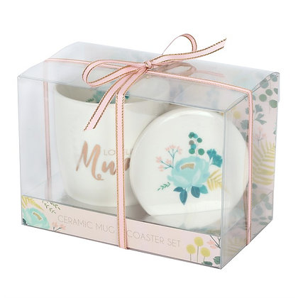 Loveliest Mum Mug and Coaster Gift Set