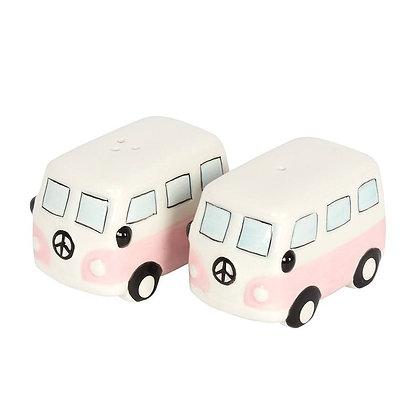 Pink Campervan Cruet Set