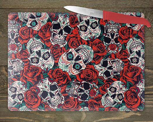 Skull and Roses Chopping Board