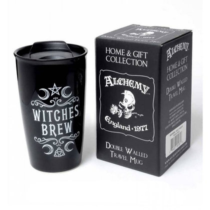 Witches Brew Double Walled Ceramic Travel Mug