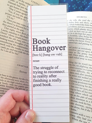 Book Hangover Definition Bookmark